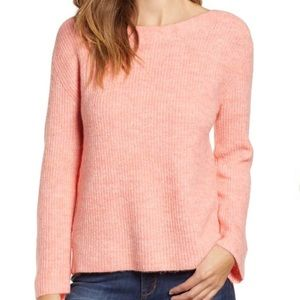NEW Leith cuddly sweater. Salmon color.